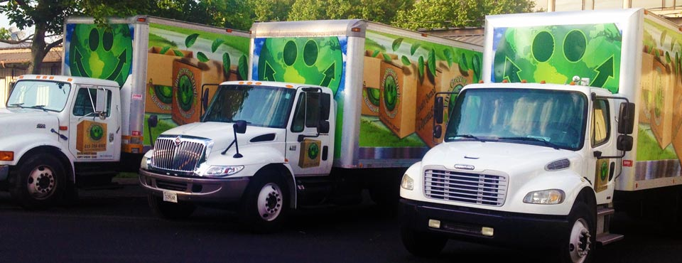 Honk when you see The Green Truck in honor of Eco-friendly living.