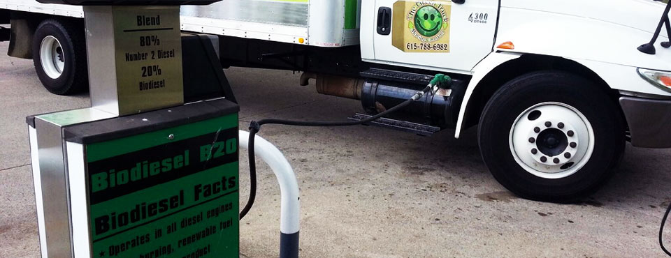 We fuel our trucks with Biodiesel.